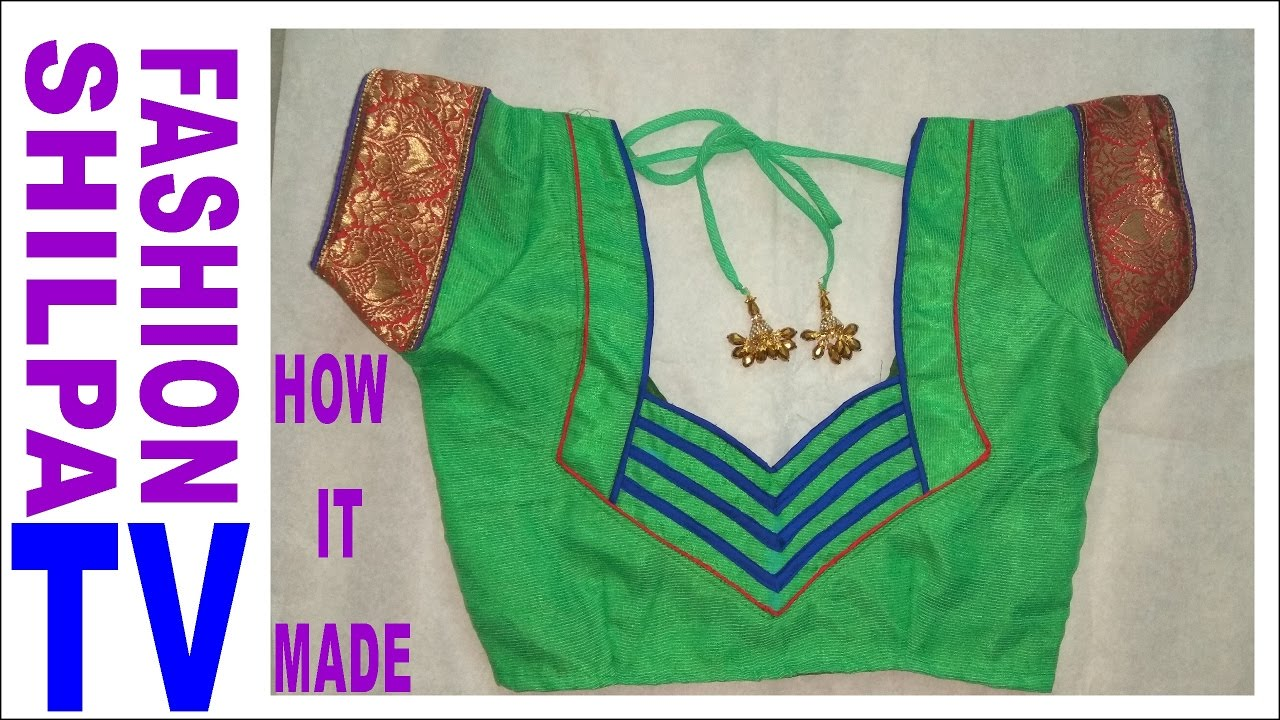 How To Make Designer Blouse At Home Neck Designs Blouse Cutting And Stitching Designs For Back Youtube