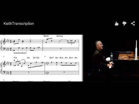 Keith Jarrett Piano Transcription with Video