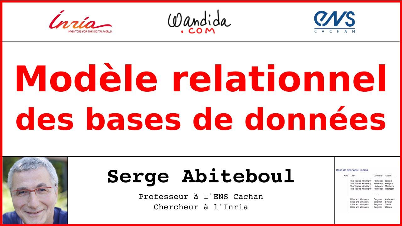 Mod le relationnel des bases de donn es serge abiteboul - Exemple base de donnees open office ...