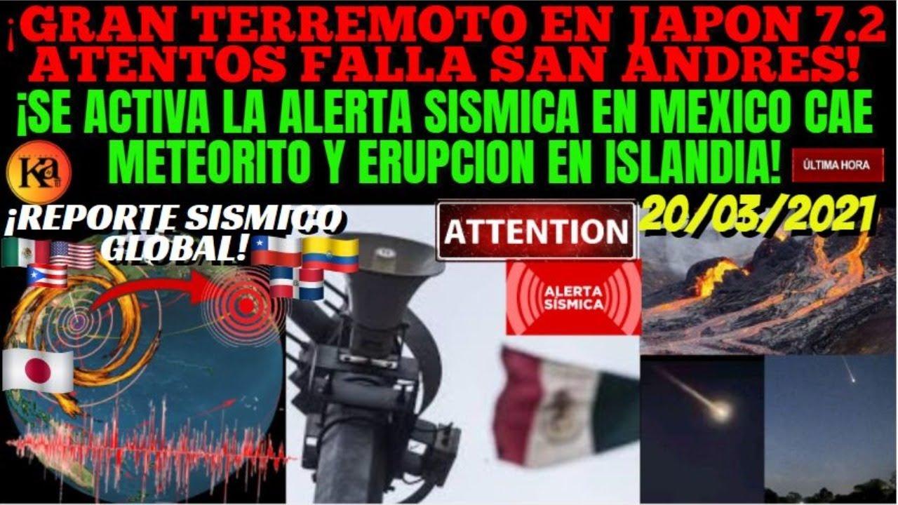 ¡URGENTE TERREMOTO 7.2 SACUDE JAPON ALERTA EN LA FALLA SAN ANDRES! ¡ALERTA SISMICA SUENA EN MEXICO!