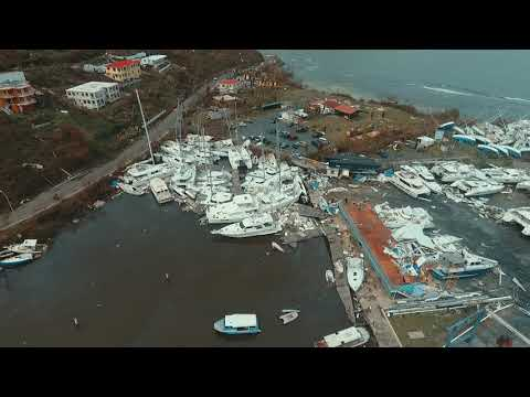 Nanny Cay Marina the day after Hurricane Irma