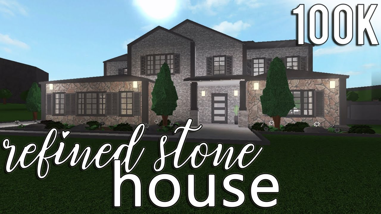 Roblox Welcome To Bloxburg Refined Stone House 100k Themegolden