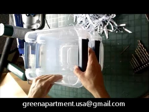 How To Make An Apartment Size Mini Composting Worm Bin For 10 Kids Craft Project You