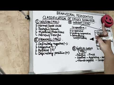 classification of child behavior in pediatric dentistry