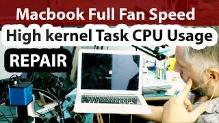 Macbook Air High Kernel Task CPU % Usage and Loud Full Speed Fan Repair using Flir Thermal camera