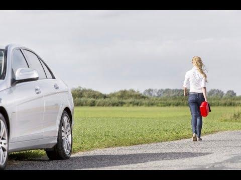 Сколько машина может проехать на лампочке бензина?