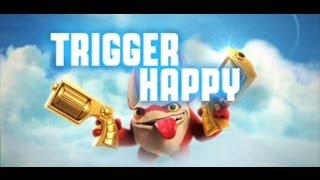Skylanders Giants - Series 2 Trigger Happy - Golden Money Bags Path with Wow Pow