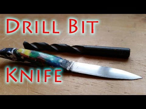 How to Forge a Carving Knife From a Drill bit - part 2