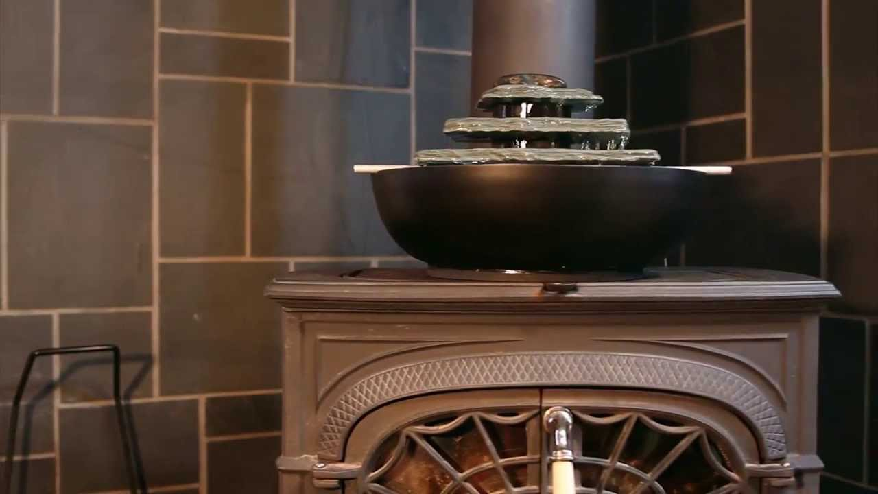 Humid-i-Fire™: Wood Stove Fountain and Humidifier - Humid-i-Fire™: Wood Stove Fountain And Humidifier - YouTube