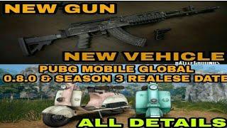 #pubgnews #pubgupdate Pubg Mobile New gun & Vehicle|0.8.0 Update coming soon|Sanhok Map In Season 3