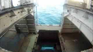 USS RADFORD SINKING MIDSHIP VIEW