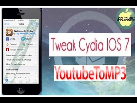 YoutubeToMP3 Tweak Cydia IOS 7.1.2 [Descarga Música En MP3 Desde Youtube]