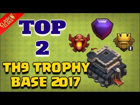 TOP 2 Town Hall 9 Trophy Base 2018 | CoC Th9 Best Trophy Pushing Layouts | Clash Of Clans