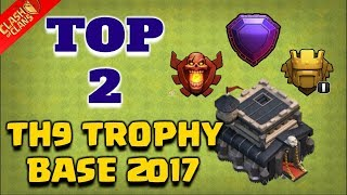 TOP 2 Town Hall 9 Trophy Base 2018   CoC Th9 Best Trophy Pushing Layouts   Clash of Clans