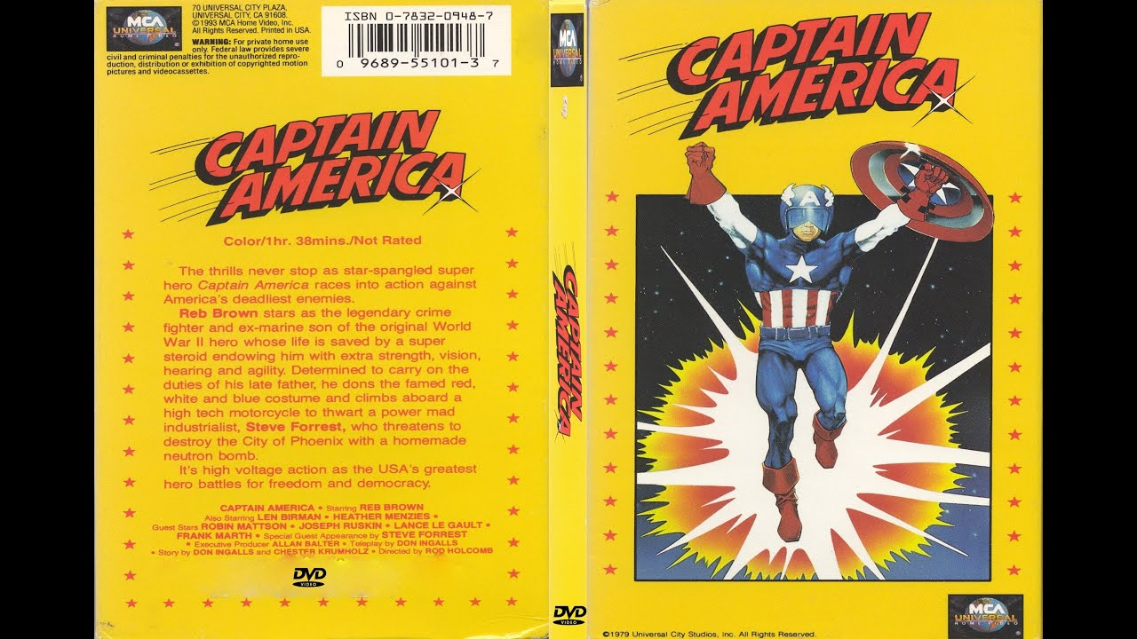 1979 Movie Posters: Captain America(1979) Movie Review & Rant