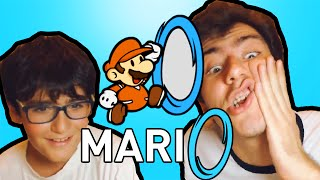 MARİO+PORTAL!! - Mari0 Kardeşimle