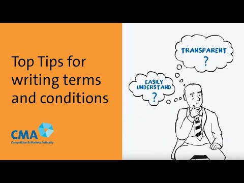 Top Tips for writing terms and conditions