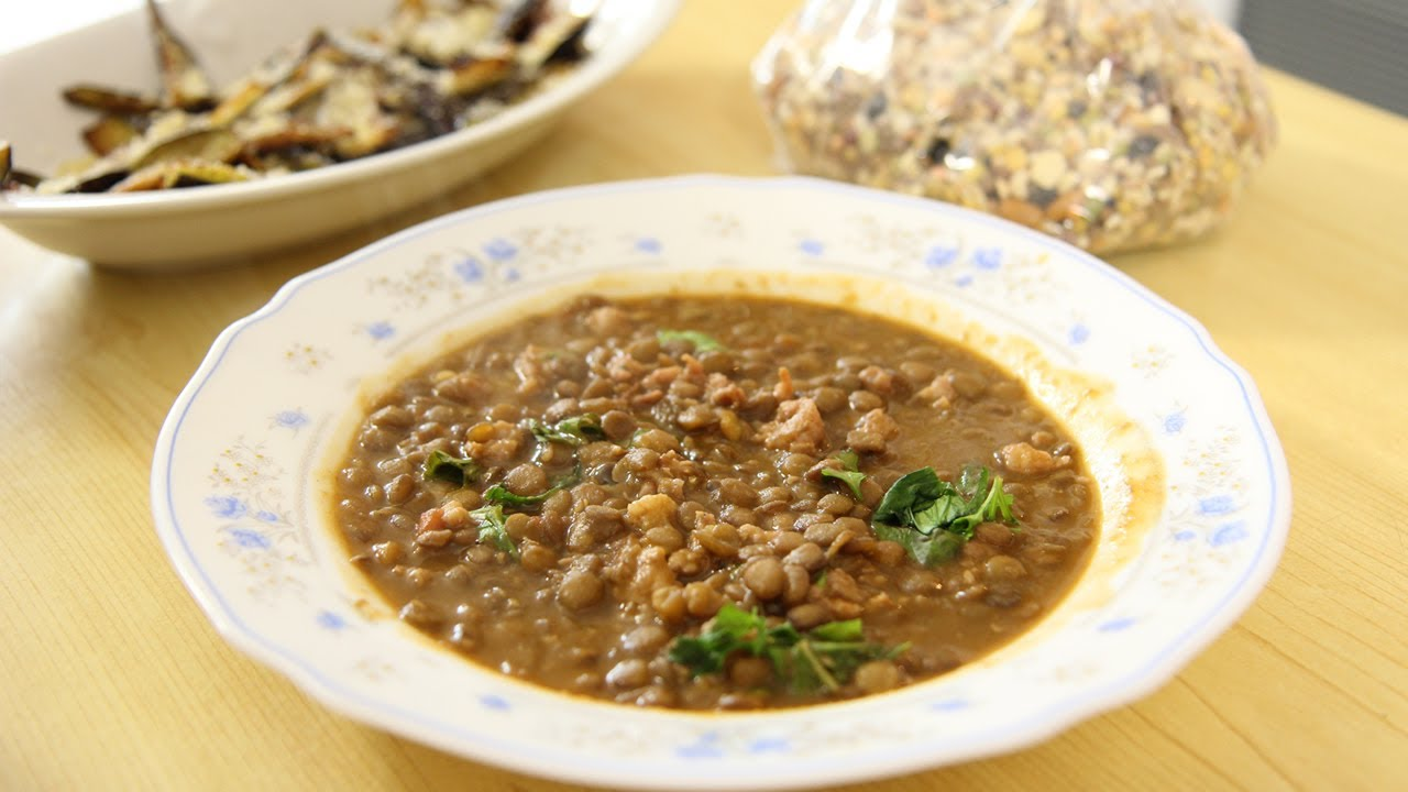 Lentils with Sausage & Nonna - Laura Vitale - Laura in the Kitchen Episode 475