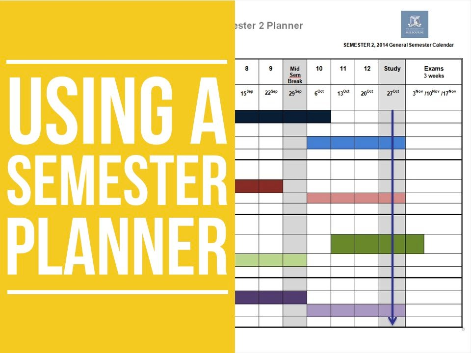 Using a Semester Planner - YouTube