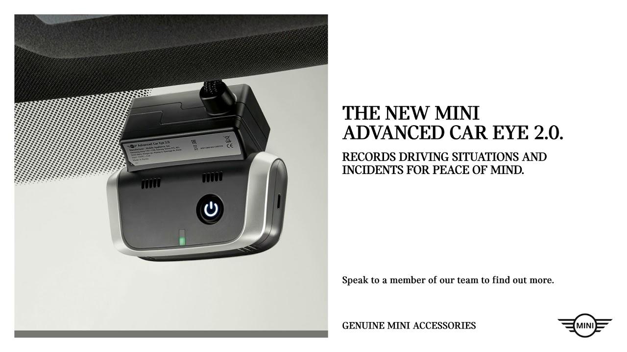 mini advanced car eye 2 0 now available from halliwell. Black Bedroom Furniture Sets. Home Design Ideas