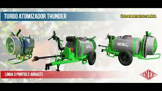 Pulverizador Turbo Atomizador IMEP - Demonstração 600 e 1200 litros Turbina Café Laranja