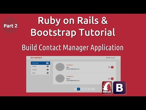Ruby on rails & Bootstrap tutorial - Build Contact Manager Application - Part 2