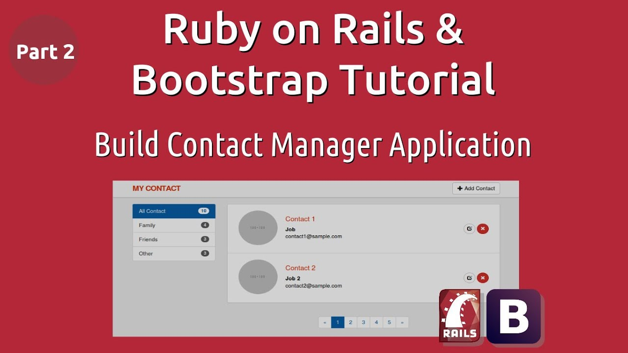 Ruby on rails bootstrap tutorial build contact manager ruby on rails bootstrap tutorial build contact manager application part 2 baditri Images