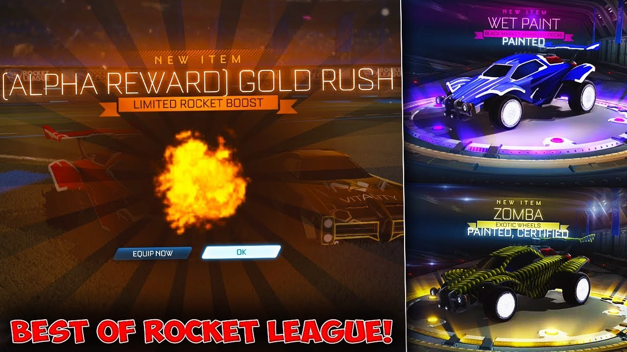 How I Got The Alpha Boost In Rocket League The Best Crate Trade Up Luck You Ll See Youtube