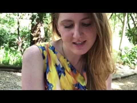 Marissa Polnerow reads a poem on Brasilia
