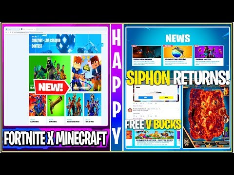 New Fortnite Fortnite X Minecraft Collab Siphon Update