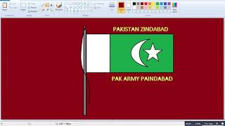 How to make Pakistan flag in ms Paint