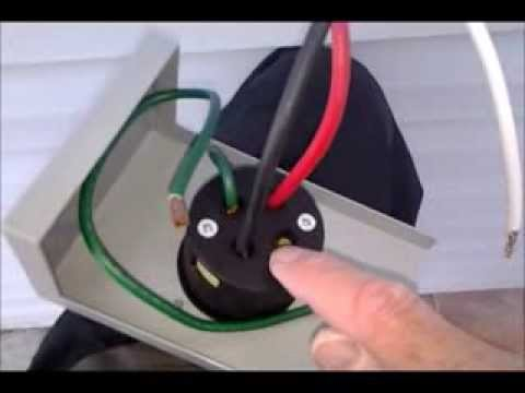 What Gauge Wire For 50 Amp >> Generator Inlet Box Installation - YouTube
