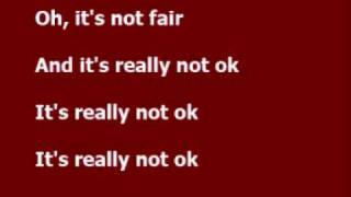 Repeat youtube video Not fair - Lily Allen lyrics