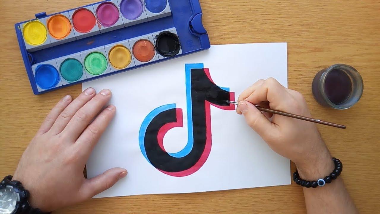 Tiktok Tattoo Steps: How To Draw The Tik Tok Logo