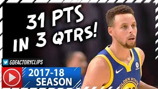 Stephen Curry CRAZY Full Highlights vs Clippers (2017.10.30) - 31 Pts, 6 Ast in 3 Qtrs!