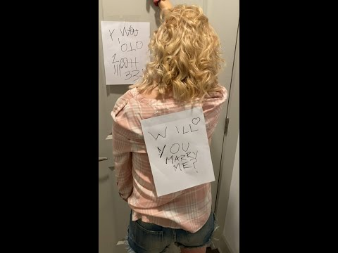 ADORABLE PROPOSAL (BOYFRIEND PROPOSES WITH DRAW ON BACK TRICK!)