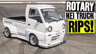 The Rotary Swapped Kei Truck is DONE! First Stop: Shred Session at Irwindale Speedway