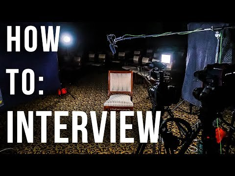 How to Shoot an Interview | Job Shadow - YouTube