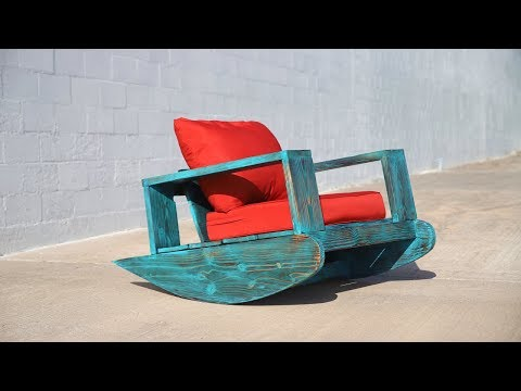 DIY Outdoor Furniture | Outdoor Rocker w/ Shou Sugi Ban | Beginner DIY Project