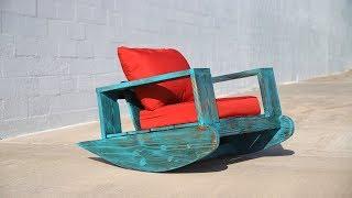 DIY Outdoor Furniture | Outdoor Rocker w/ Shou Sugi Ban | Beginner DIY Project