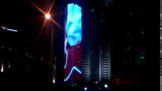 Видео стена здание КТЖ Астана(36 этажей видео., 2014-07-12T18:24:15.000Z)