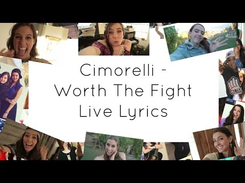 Cimorelli - Worth The Fight Live LYRICS
