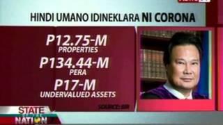SONA: Dating CJ Renato Corona, kinasuhan ng tax evasion ng BIR