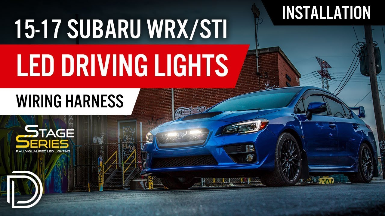 How To Install 2015 2017 Subaru Wrx Sti Led Driving Light Kit Wiring Harness By Diode Dynamics