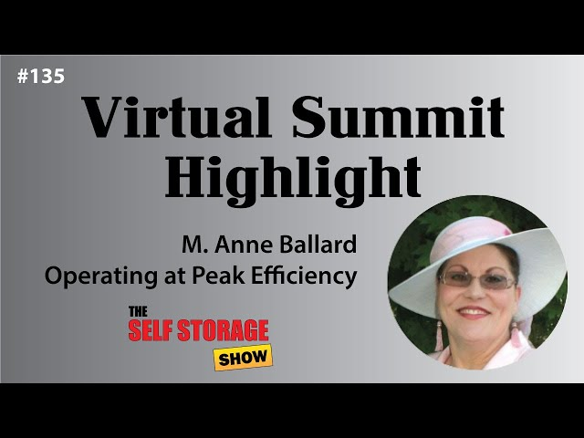 😀 #135: Virtual Summit Highlight - M. Anne Ballard - Operating at Peak Efficiency