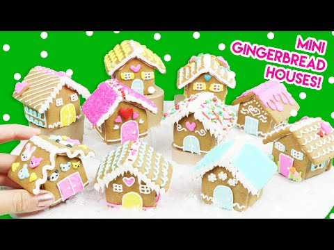 How To Make Mini Gingerbread Houses (100% Edible)!