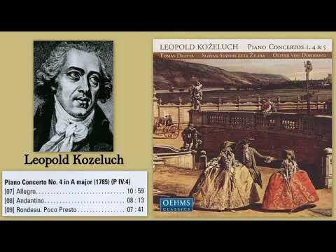 Leopold Koželuch: Piano Concerto No.4 in A major, Tomas Dratva (piano)