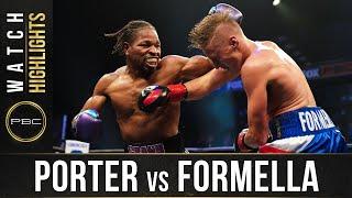 Porter vs Formella HIGHLIGHTS: August 22, 2020 | PBC on FOX