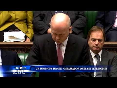 UK summons Israeli ambassador over settler homes