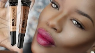 How to Highlight and Contour DARK SKIN w/ LA Girl Concealer